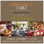 Alpharetta's Table, Decorating for the Holidays