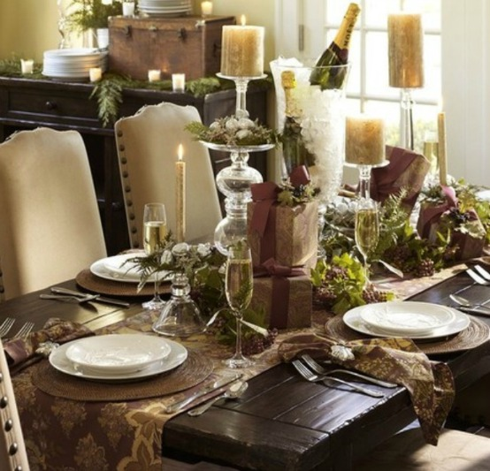 Table top decorating trends part i loretta j willis for Dining room table setup ideas