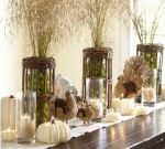 Elegant Tabletop, White Pumpkins
