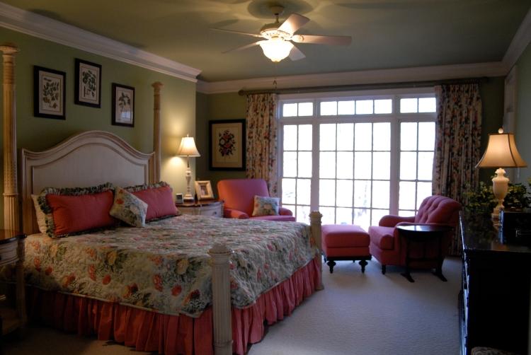 Romantic Cottage Master Retreat  Designed by Loretta's Interior Design