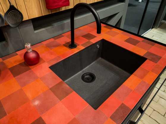 Mosaic Tile Countertop by Minacciolo
