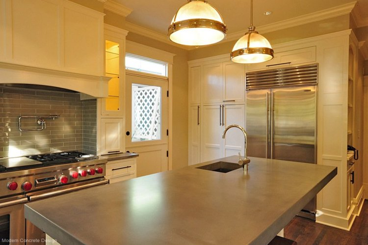 Polished Concrete Counter Top by Modern Concrete Design