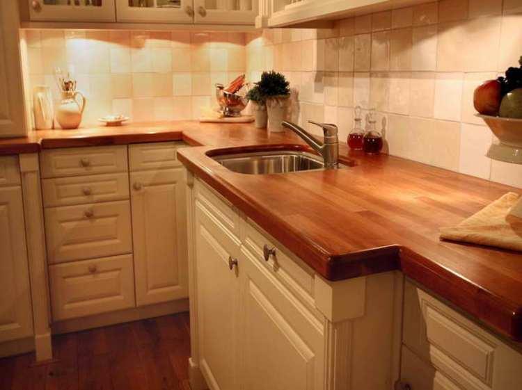Red Oak Wood Counter Top by Vizimac