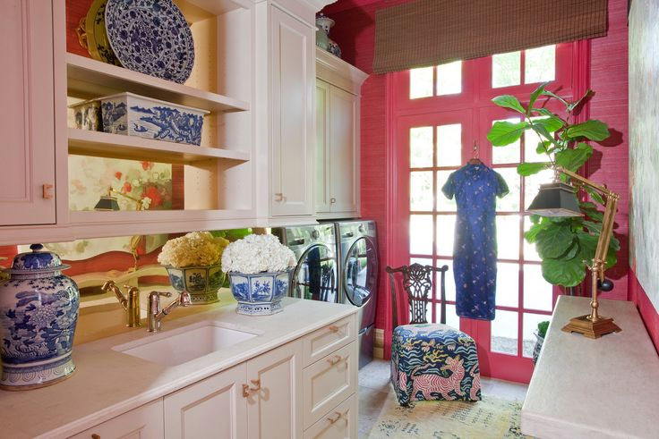 Elegant Laundry Room by Anna Abrams Design
