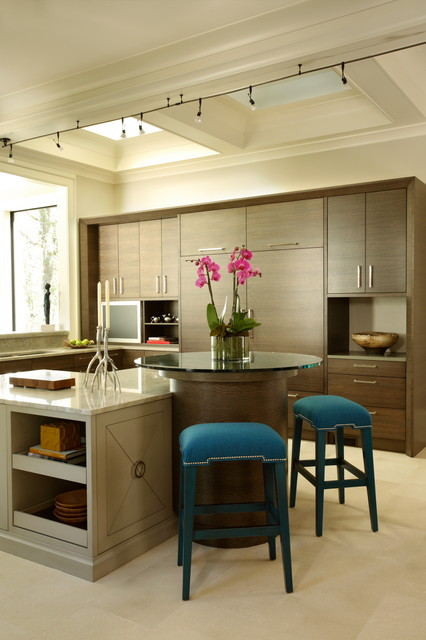 Contemporary Kitchen with Built-ins by Christy Dillard Kratzer