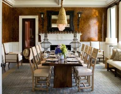 English & Modern French Dining Room
