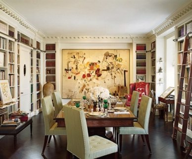 Dining Room Library designed by Mica Ertegun