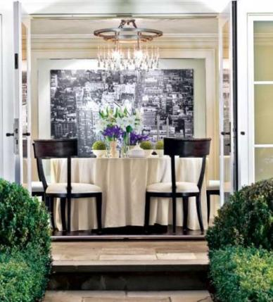 Transitional Dining Room by Susan Marinello