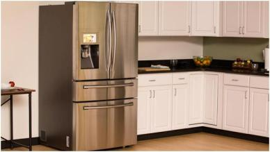 "Samsung 4-Door Refrigerator with 8"" Wi-Fi Enabled LCD"