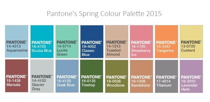 Pantone 2015 Spring Collection