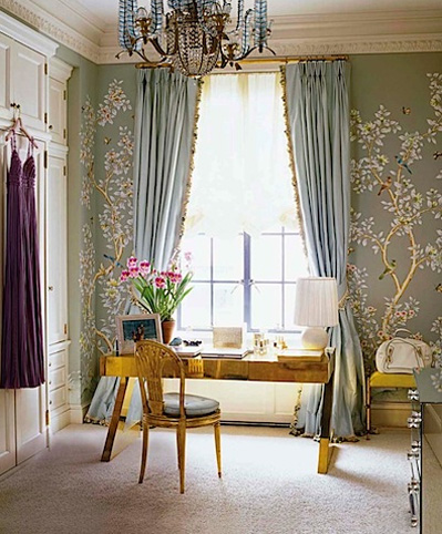 Elegant Hand Painted Wallpaper Panels by Gracie