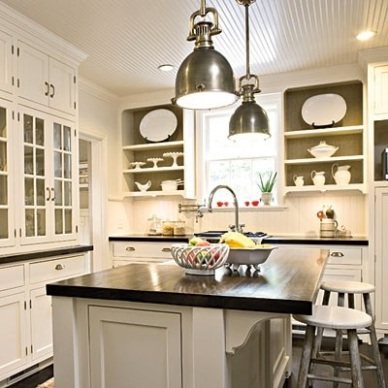 Detailed White Kitchen by Lori May Interiors