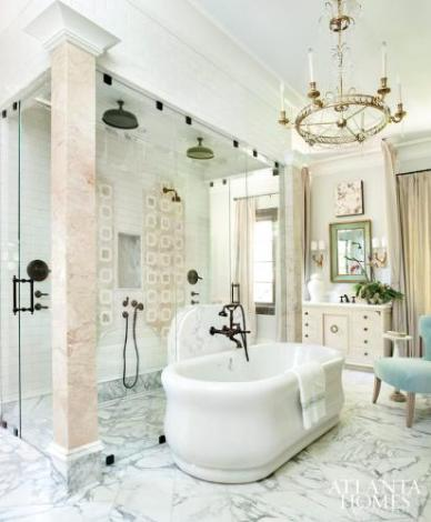 Master Bathroom by Clay Snider Interiors, Design Galleria Kitchen & Bath Studio