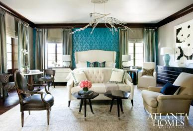 Master Bedroom by Traci Rhoads Interiors