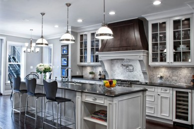 Contemporary Gray-White Kitchen, by Tidbits Twine