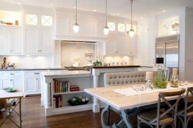 Traditional Kitchen with Inside/Under Cabinet Lighting by Benjamin Blackwelder Cabinetry