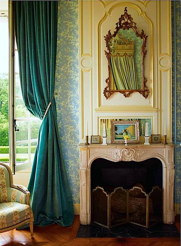Guest Room, Chateau du Grand-Luce, by Timothy Corrigan