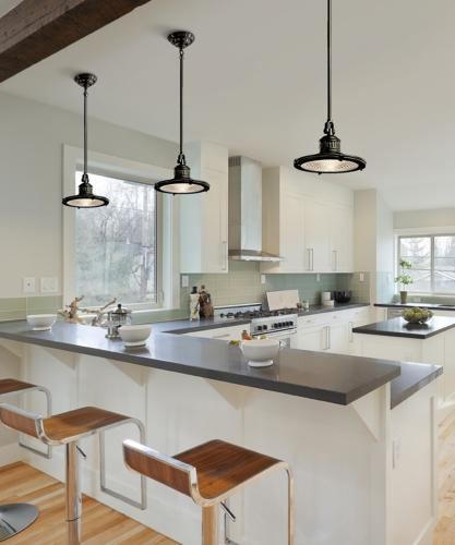 Kitchen lighting trends pendant lighting loretta j willis designer - Industrial lighting fixtures for kitchen ...