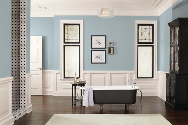 Formal bath finished in sw 7613 aqua sphere this old - House color schemes interior ...