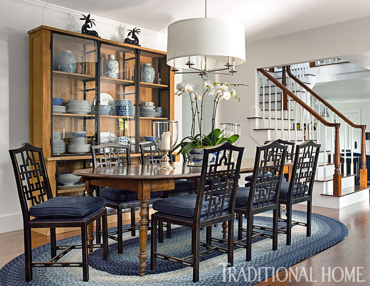 Airy Dining Room Designed by Jon Maroto, George Nunno, Traditional Home