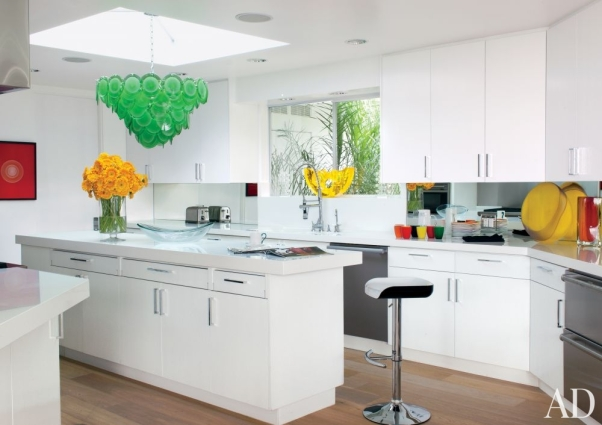 Frameless Flat Panel Kitchen Cabinets by Martyn Lawrence, AD