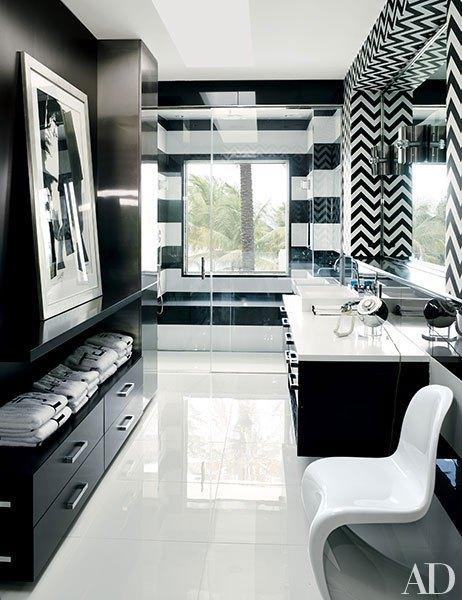 Flat Panel Master Bath Cabinets by Martyn Lawrence Bullard, AF