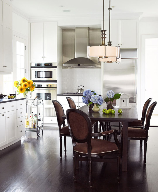 Dining Room Kitchen Combo Remodels: Small Kitchen Trends: Beauty & Function