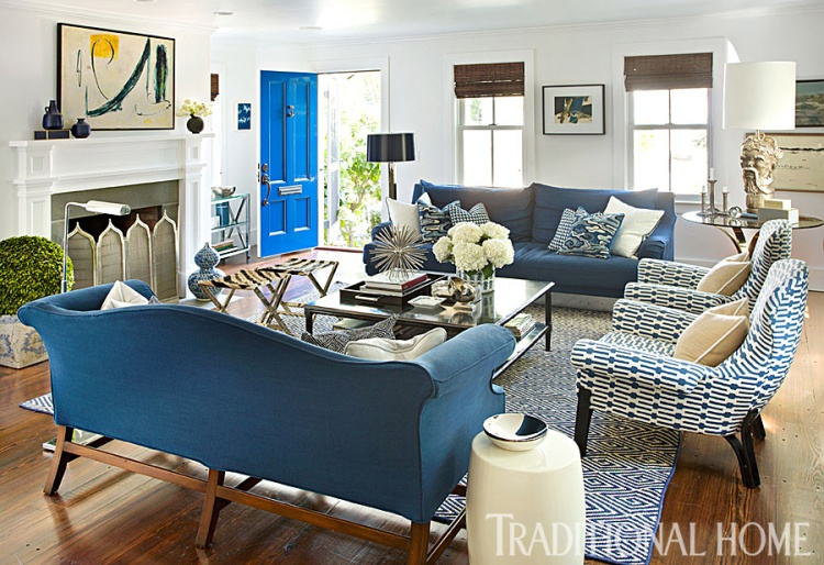 Living Room Graphic Blue&White, Jon Maroto and George Nunno