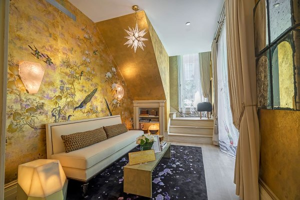 Modern Lounge by Bennett Leifer Interiors ~ 2015 Kips Bay Decorator SH