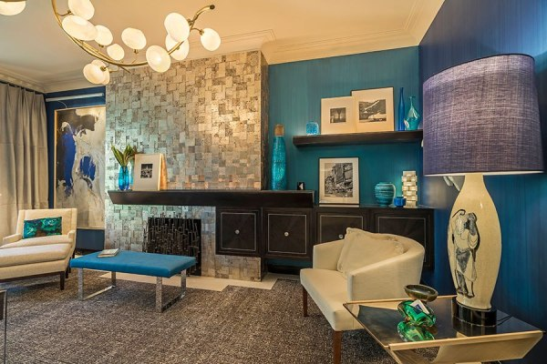 Ocean Blue Lounge by Pavarini Design ~ 2015 Kips Bay Decorator Show House