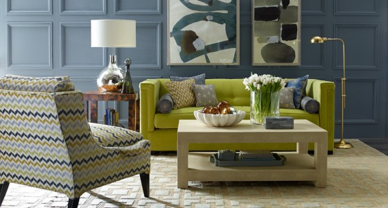 Living Room with Mixed Patterns by Kravet