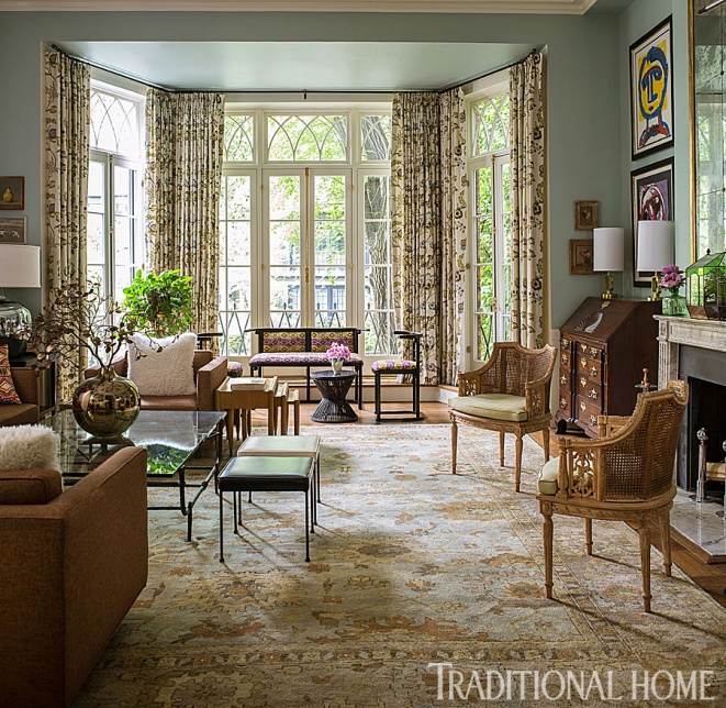 Flooring Trends 2016-Living Room Area Rug, Doug Larson-Architect, TradHome