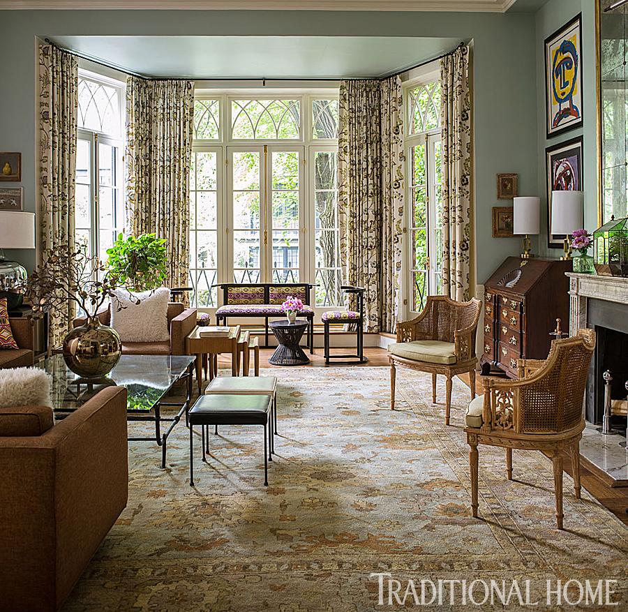 Grand Living Room with Elegant Flooring, Doug Larson Architect