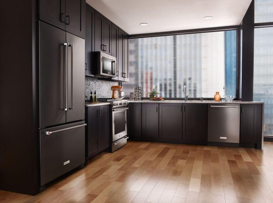 KitchenAid Black Stainless Steel Appliances