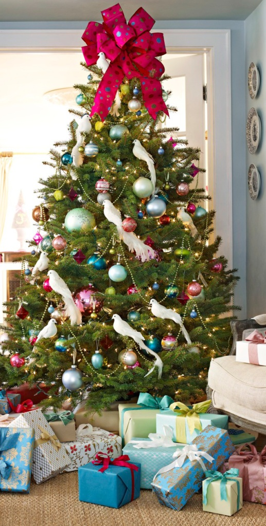 Giant Pink Bow Tree Topper by Emily Janson