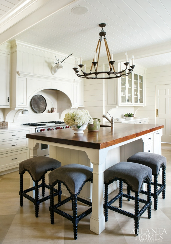 Old World Charm Chandelier Kitchen by K2 Construction