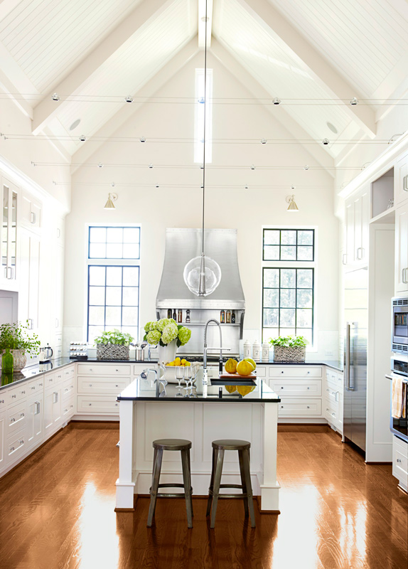 Track & Pendant Kitchen Lighting~Traditional Home