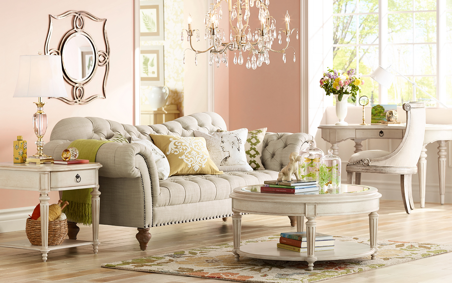 Shabby Chic Colors For 2015 : Color of the year 2016 pantone rose quartz lamps plus011415 shabby