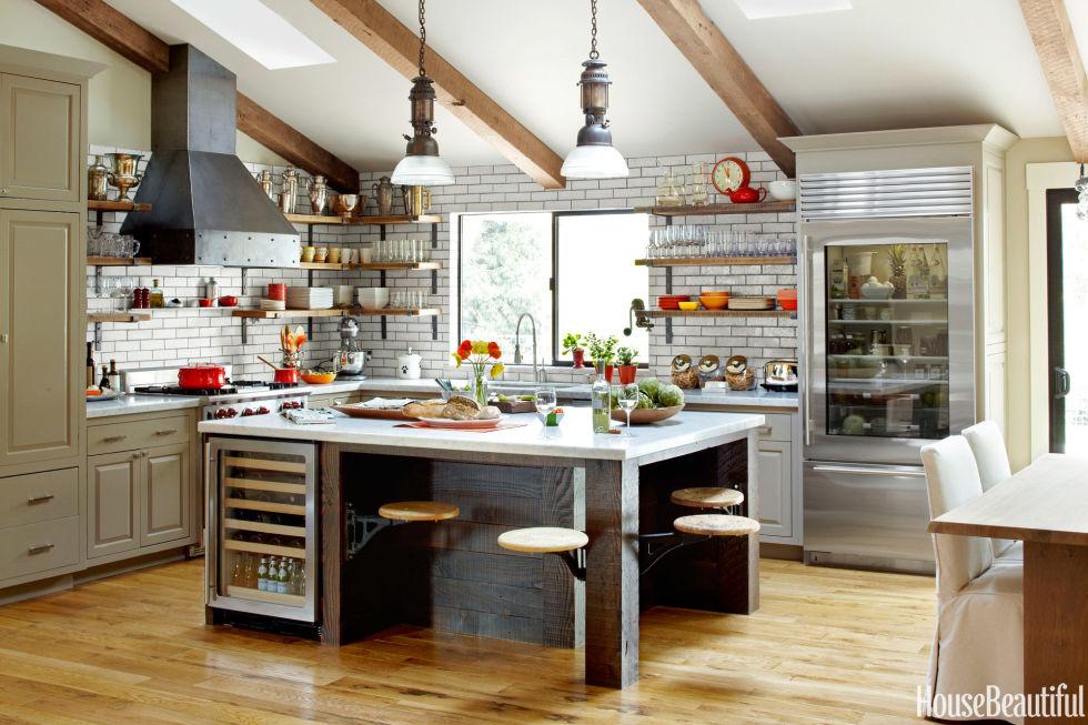 decorating trends 2016 industrial kitchen w salvaged wood raw steel glazed brick by dan doyle hb