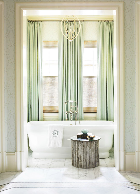 Master Bath Soaking Tub from Waterworks by Heather Dewberry & Will Huff