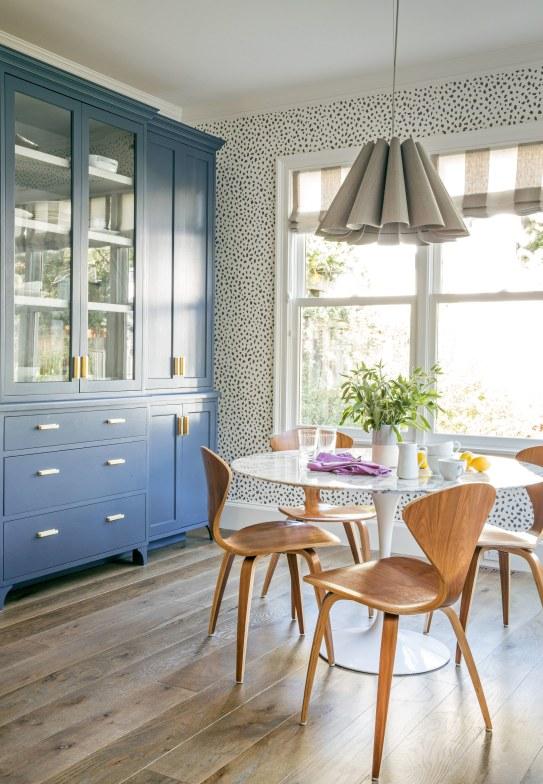 Wallpapered Breakfast Room by Lauren Nelson, ArchDigest