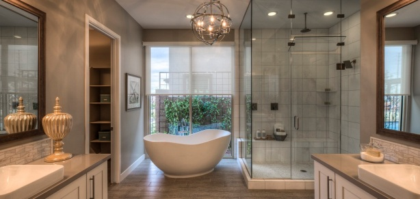 Modern Resort Style Bath by Ashton Woods Luxury Home Builder Promotes Healthy Lifestyle