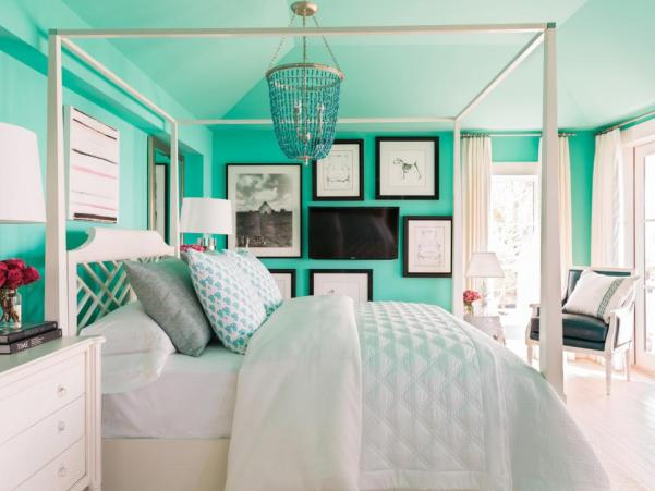 HGTV Dream Home 2016, Master Retreat with Majestic Teal Walls, Brian Patrick Flynn