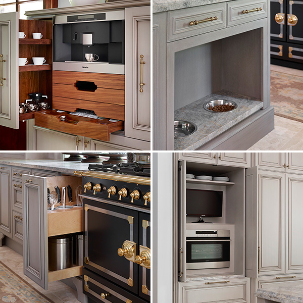 Built-in Storage: Coffee Station, Pet Feeding Station, Cooking Utensil, Appliance Garage with Pocket Doors, Matthew Quinnth