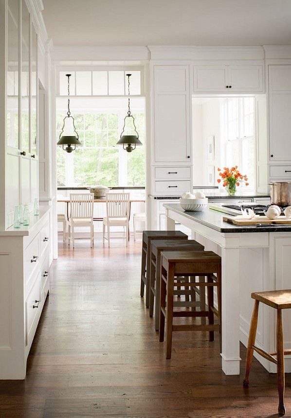 Kitchen Wood Flooring by Donald Lococo Architects