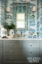 Powder Room, Kranes Banana Leaf Wallpaper, Heather Roberts