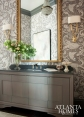 Powder Room with Lewiswoods-Baachus Wallpaper, Jessica Bradley