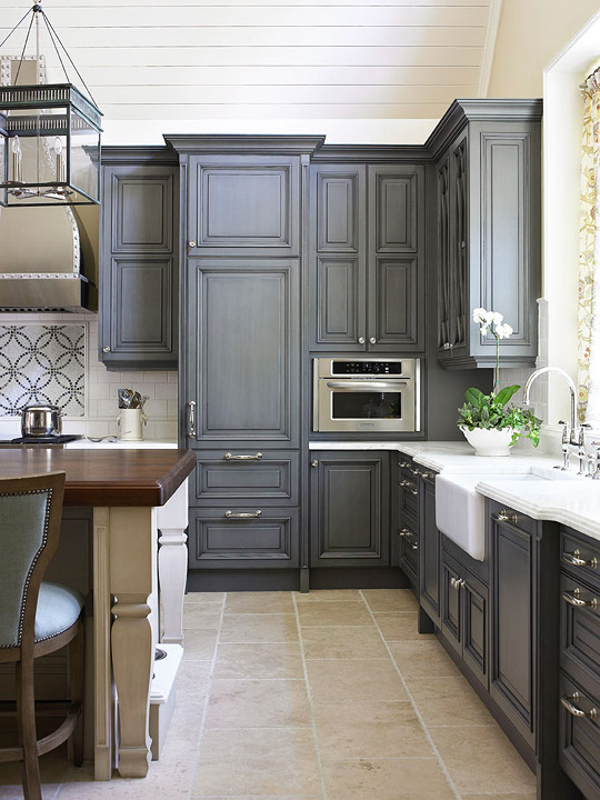 Custom Charcoaled-Colored Cabinetry, Design Galleria