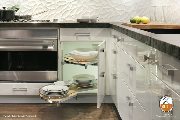 Lemans Blind Corner Cabinet, Rutt Cabinetry