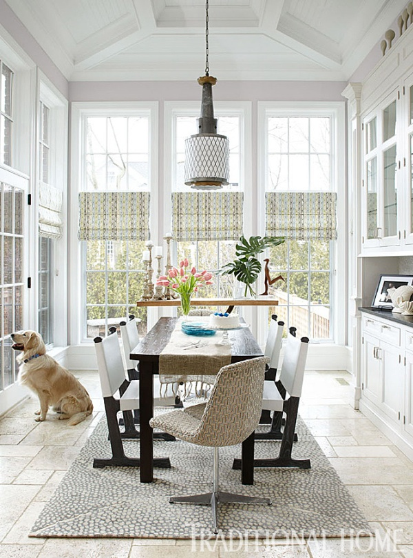 Kitchen Breakfast Room Invites Outside In, Buckingham Interiors + Design